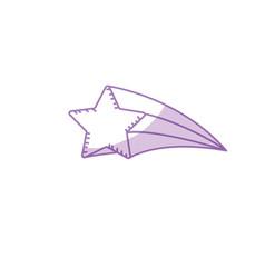 Silhouette shiny star art design icon vector