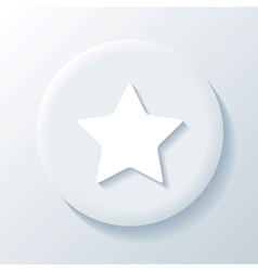 Star 3D Paper Icon vector image