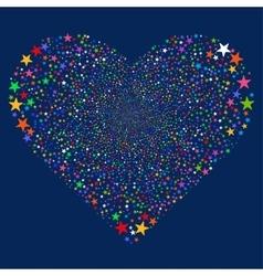 Star salute heart vector