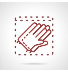 Sterile gloves red line icon vector image