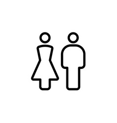 thin line female male icon vector image