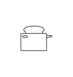toaster line icon vector image vector image