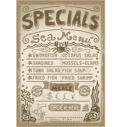 Vintage graphic page menu for bar or restaurant vector