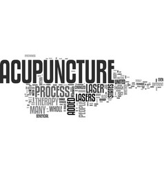 What is laser acupuncture text word cloud concept vector