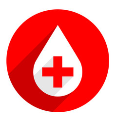 White drop icon first aid donate sign vector