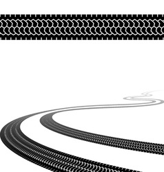 winding trace of the terrain tyres vector image vector image