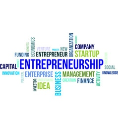Word cloud entrepreneurship vector