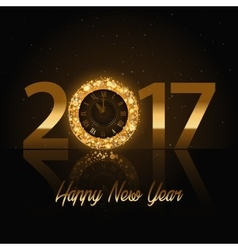 2017 happy new year background with gold vector