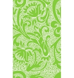 Seamless green floral lace pattern vector image