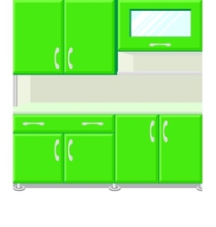 Kitchen with kitchen cabinets vector