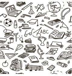 Set back to school seamless pattern vector