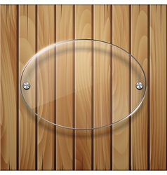 Wooden texture with glass framework vector image