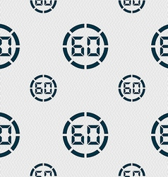60 second stopwatch icon sign seamless pattern vector