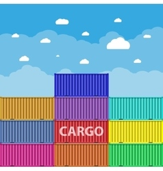 Sea 0cargo containers vector