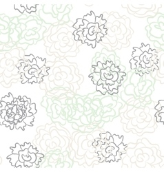 Romantic rose and peonies seamless pattern vector