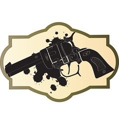 Classic wild west hand guns vector