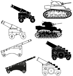 Cannons and tanks vector