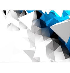 Abstract 3d triangular background vector