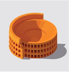 Ancient rome building vector
