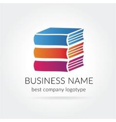 books logotype isolated on white background vector image