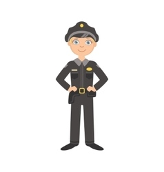Boy Dressed As Policeman Officer vector image vector image