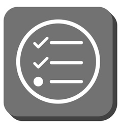Checklist rounded square icon vector