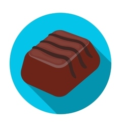 Chocolate candy icon in flat style isolated on vector image
