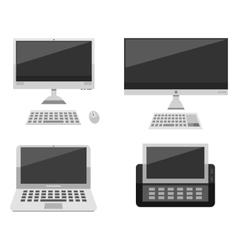 Computer laptop network and desktop technology vector image vector image