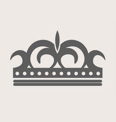 crown royal diadem or tiara with ornate ornament vector image vector image