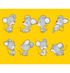 Cute mouse actions vector image