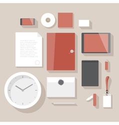 Flat design corporate identity mock-up vector