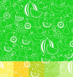 fruit white silhouette seamless pattern vector image