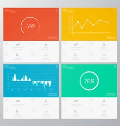 infographics flat design vector image vector image