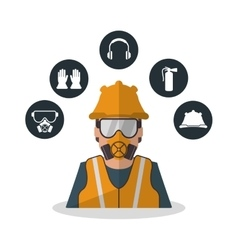 Isolated industrial safety design vector