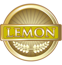Lemon gold label vector
