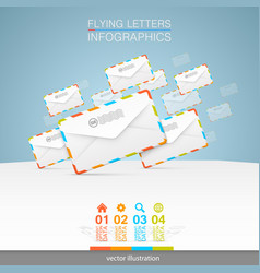 letters on a white background vector image vector image
