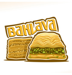 Logo for turkish baklava vector