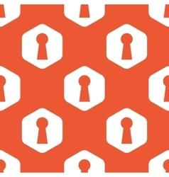 Orange hexagon keyhole pattern vector