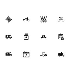 set of 12 editable mixed icons includes symbols vector image