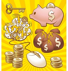 Set to make money vector image vector image