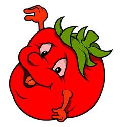 Smiling tomato vector