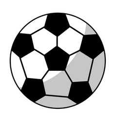 soccer ball equipment line vector image