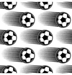 Speeding soccer ball seamless pattern vector image