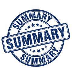 Summary blue grunge round vintage rubber stamp vector