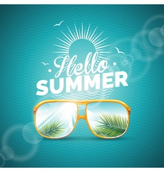 summer holiday with sunglasses vector image vector image