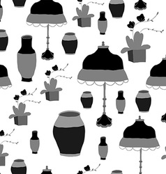 The pattern vase and lamp chinese style vector