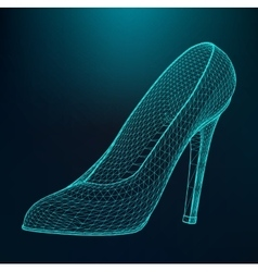Women high-heeled shoes vector