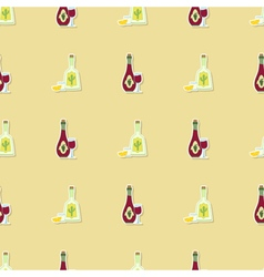 Seamless background with alcohol icons vector