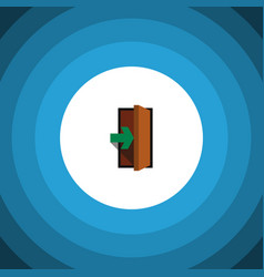 Isolated entry flat icon entrance element vector