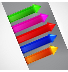 Arrow bookmark set vector